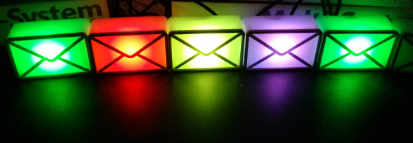 usb LED webmail notifiers showing build status